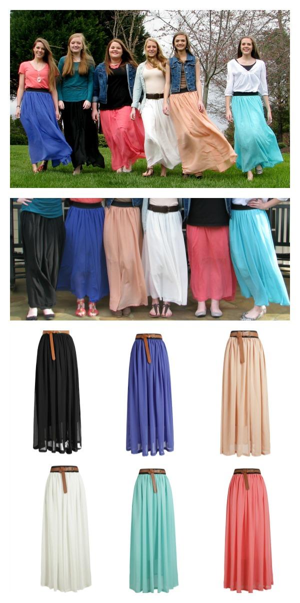 Модная шифоновая Юбка макси длина 16 оттеков - фото 281_Chiffon-Maxi-Skirts---6-colors--.jpg