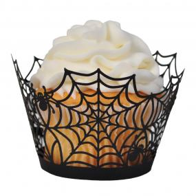 Quick Ship!~HALLLOWEEN Spider Web Dye Cut Cupcake Collars