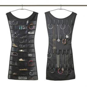 Little Black Dress Jewelry and Accessory Organizer....Black or Pink....FREE SHIPPING