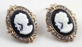 Cameo Portrait Earrings