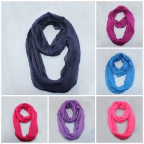 Solid Color Infinity Scarves for Spring......Free Shipping