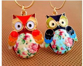 Whimsical Owl Pendant Necklace