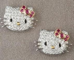 Kitty Crystal Earrings