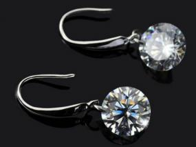 Sterling Silver Swarovski Drop Earrings.....Free Shipping