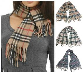 CLOSEOUT......Plaid Cashmere Scarf.....FREE SHIPPING
