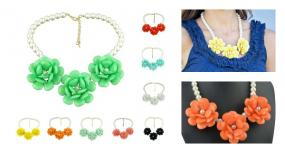 Roses in Bloom Statement Necklace