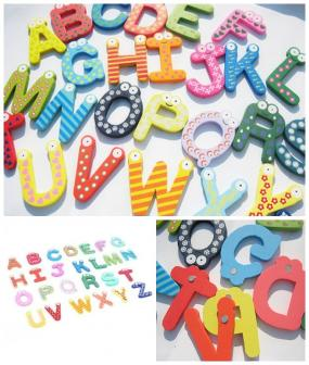 Fun Wooden Magnets for Learning