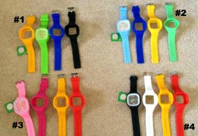 Silicone Watch with 3 extra Bands