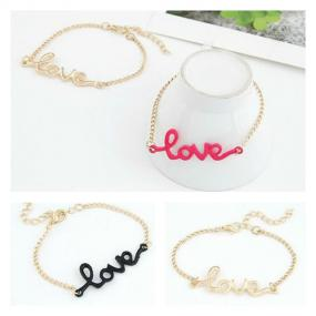 LOVE Bracelet in Pink, Black, and Gold