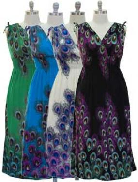 FREE SHIPPING~Plus Size Vibrant Peacock Maxi Dress in 4 Colors
