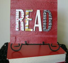 READ Typography Sign-Great Teacher Appreciation
