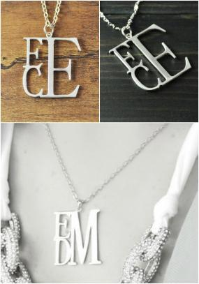 Mothers Day.......Sterling Silver Monogram Necklace