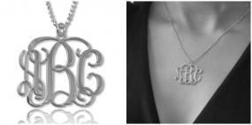 Mother's Day.......Sterling Silver Personalized Monogram Necklace