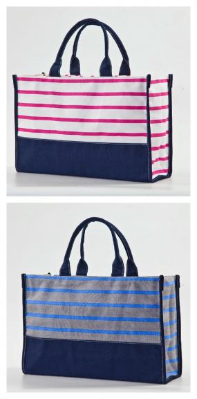 Monogrammed Classic Canvas Stripped Bag