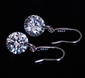 Classic Sterling Silver Swarovski Drop Earrings.....Free Shipping