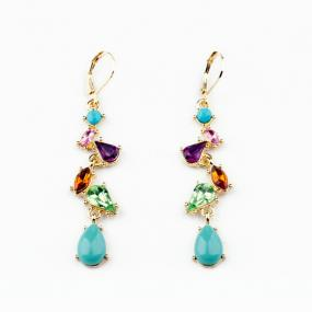 Dazzling Gemstone Earrings