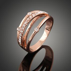 Rose-tone Layered Ring