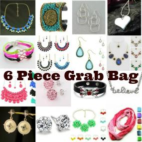 6pc Summer Statement Necklace and Accessory Grab Bag