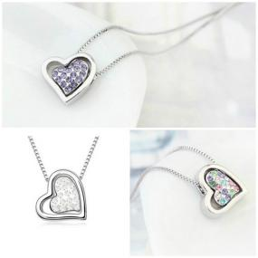 Platinum Plated Swarovski Crystal Heart Necklace