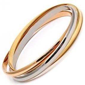 Three Tone Trinity Interlocking Bangle