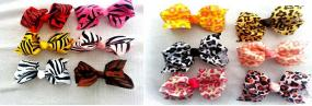Grab Bag of 8 Animal Print Hair Bows
