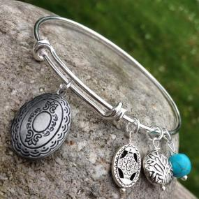 Locket Charm Bangle