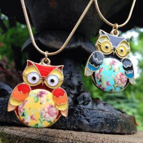 CLOSEOUT!!!  Shabby Chic Owl Pendant Necklace