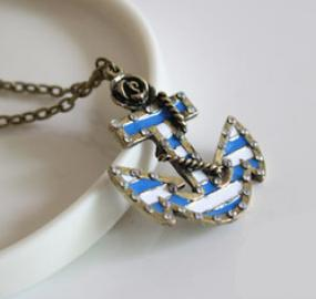 Vintage Inspired Anchor Necklace