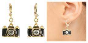 Snap Shot Camera Earrings