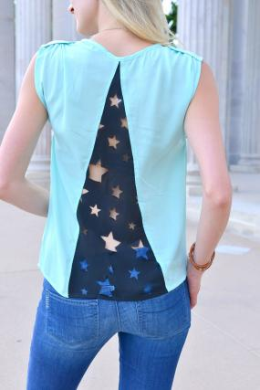Peek-A-Boo Star Top - 2 colors