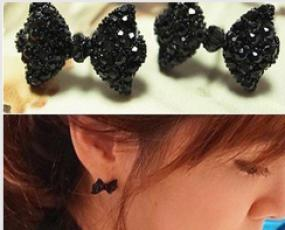 Little Black Bow Studs
