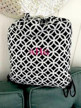 Monogrammed Gym Bag for Girls!