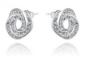 CLOSEOUT!! Rhinestone Knot Stud Earrings LIMITED STOCK
