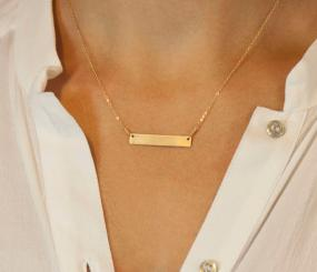 Chic & Simple Bar Necklace