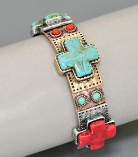 LIMITED STOCK! Fun Turquoise Stretch Bracelet