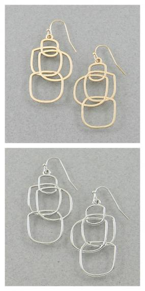CLOSEOUT!! Square Link Earrings