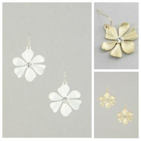 CLOSEOUT!! Fun and Sweet Drop Flower Earrings
