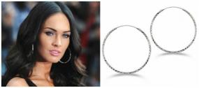 FREE SHIPPING~Diamond Cut Sterling Silver Hoop Earrings