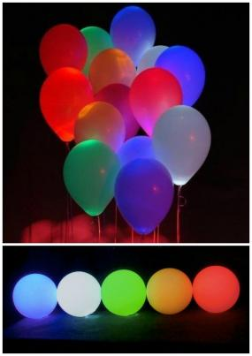 FREE SHIPPING~$12 for 10 Assorted Color LED Light Up Balloons