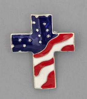 USA American Flag Cross Pin...Perfect for Labor Day!
