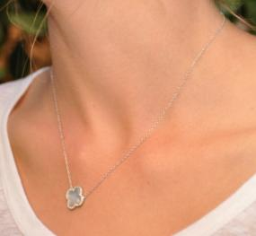 Silver Mother of Pearl Clover Necklace
