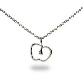 Teacher's Christmas Gift Apple Necklace.....FREE SHIP