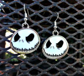 Jack Skellington Halloween Dangle Earrings