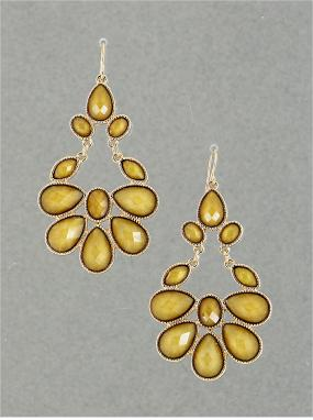 CLOSEOUT......Tawny Yellow Chandelier Earrings.....FREE SHIPPING