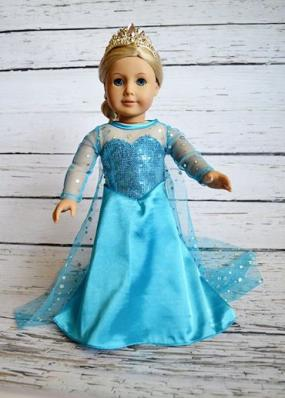 Beautiful Ice Princess dress for 18 inch dolls