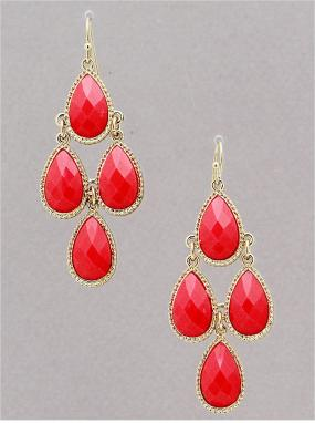 REDUCED......Hot Pink Beaded Chandelier Earrings....FREE SHIPPING