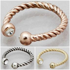 CLOSEOUT.....Cable Twist Ring in Antique Silver, Gold and Rose Gold Size 7...FREE SHIPPING