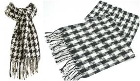 CLOSEOUT......Houndstooth Scarf ....FREE SHIP