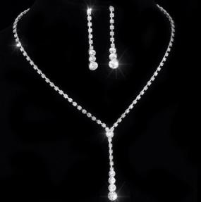 Stunning Y Drop Swarovski Necklace and Earring Set....Free Shipping