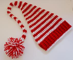 Candy Cane Baby Elf Hat- Free Shipping